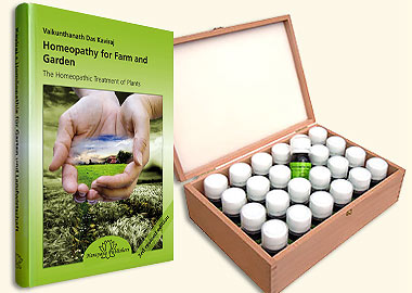 Homeopathy for Farm and Garden + Basic Assortment in a Wood Case, Vaikunthanath Das Kaviraj